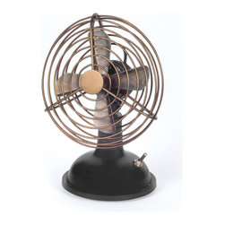 Hit the Fan - There will be no (fill in the blank) hitting the fan with this sturdy industrial piece in your home. It'll blow all the hot air away.