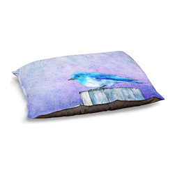 DiaNoche Designs - Dog Pet Bed Fleece - Bluebird Bliss - The comfort of your pet is of the utmost importance. But shouldn't their furniture match yours? DiaNoche Designs gives your pet some clout with our stable of international artists designs on their new bed.