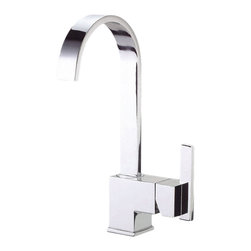 """Danze - Danze D151644 Single Handle Bar Faucet Chrome - Danze D151644 is part of the Sirus Kirchen collection.  D151644 Single handle Bar and Convenience faucet has a  5 1/2"""" long and 12"""" high fixed spout, with a full 8 7/8"""" from deck to aerator.  D151644 has a Chrome finish.  The Sirus collection carries a distinctive ribbon designed spout, a graceful work of modern art.  D151644 Single lever handle provides ease of operation.  Chrome is a proven finish from Danze and provides style and durability.   D151644 meets all requirements of ADA, CA AB-1953, ASME A112.18.1, and UPC/cUPC, NSF 61-9.  California and Vermont compliant.  Lifetime Limited Warranty."""