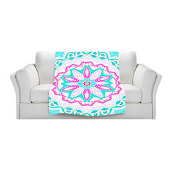 DiaNoche Designs - Throw Blanket Fleece - Fairy Heaven Mint I - Original Artwork printed to an ultra soft fleece Blanket for a unique look and feel of your living room couch or bedroom space.  DiaNoche Designs uses images from artists all over the world to create Illuminated art, Canvas Art, Sheets, Pillows, Duvets, Blankets and many other items that you can print to.  Every purchase supports an artist!