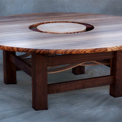 Dining or conference table with glass insert -