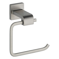 Delta - Delta 77550-SS Arzo Toilet Tissue Holder in Stainless - Delta 77550-SS Arzo Toilet Tissue Holder in StainlessInspired by geometric designs found in mid-century modern furniture, Arzo makes a bold statement in understated fashion.  Getting ready in the morning is far from routine when you are surrounded by a bath that reflects your personal style.  Sometimes accessories make all the difference and that's why Delta offers a variety of bath accessory items.  The Arzo Collection is available in a full suite of products and accessories to provide a coordinated look to your bath.Delta 77550-SS Arzo Toilet Tissue Holder in Stainless, Features:• From a complete line of bath accessories for a perfect match to the Arzo bath fittings