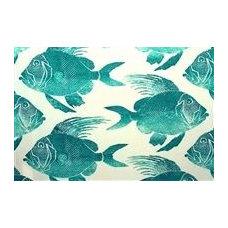 P Kaufmann ODL FISH TURQUOISE - DecorativeFabricsDirect.com