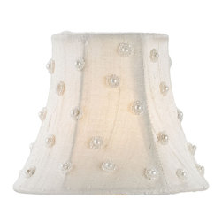 Currey & Company - Currey & Company Ivory Silk Decorative Shade CC-0434 - Currey & Company Ivory Silk Decorative shade CC-0434