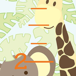 "WallPops - Jungle Friends Growth Chart Wall Decal - This WallPops peel & stick Jungle Friends Growth Chart is an adorable and fun way to measure the years. Place this cute wall decal, featuring jungle animals like an elephant and a monkey, on the wall for an adorable height chart. This functional and stylish safari wall sticker will not damage your walls and is totally removable and repositionable if you re-decorate! Jungle Friends Growth Charts contain a single 48"" x 13"" sheet."