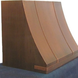 Copper range hood - French Country - © The Metal Peddler