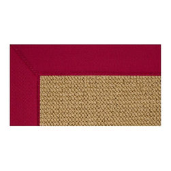 Linon - Bordered Rug with Casual Style Design - Athena Collection. Casual style. Rectangular in shape. Made of 100% wool. Jute backing. Hand-tufted in USA. 2.10 ft. L x 1.10 ft. W (4 lbs.)The Athena collection offers the widest variety of options with the look of natural