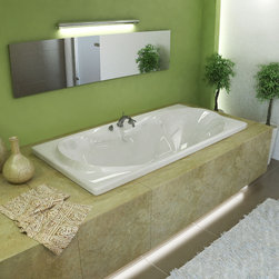 Venzi - Venzi Bello Rectangular Air Jetted Bathtub - The Bello rectangular bathtubs are equipped with an oval opening. Two round cockpits are placed on two sides, providing extra back and arm room.