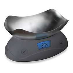Joseph Joseph™ Shell Digital Food Scale, Gray - This scale scoops up the goods before it takes note.