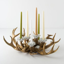Forest Coral Candelabra - Antlers and coral combine to make this fantastical candelabra. This is definitely a conversation starter.
