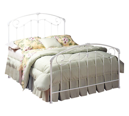 Hillsdale - Hillsdale Maddie White Metal Panel Bed-Full - Hillsdale - Beds - 325BFR - The Maddie features sophisticated Victorian styling and enchanting scroll work with detailed castings for a classically comfortable feel. With its clean fresh white finish this luxurious bed would be an ideal addition to master bedroom or a guest room.