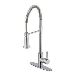 Estora - Estora Forza Single Handle Pull Down Kitchen Faucet, Chrome (15-51121) - Estora 15-51121 Forza Single Handle Pull Down Kitchen Faucet, Chrome