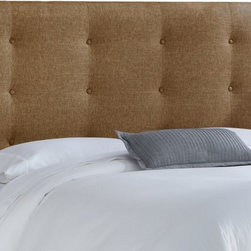 Skyline Furniture - Skyline Button Tufted Upholstered Headboard - 894CGRPGNM - Shop for Headboards and Footboards from Hayneedle.com! Square away your bedroom s design with this Skyline Button Tufted Upholstered Headboard. Crafted with a durable wood frame covered in textured polyester fabric - you choose glitz filbert gunmetal pewter or praline - this high-profile headboard boasts a clean squared shape with simple button tufts. Available in twin full queen king and california king sizes this headboard attaches to any standard bed frame. Spot clean. Headboard Dimensions: Twin: 41W x 4D x 54H inches Full: 56W x 4D x 54H inches Queen: 62W x 4D x 54H inches King: 78W x 4D x 54H inches California king: 74W x 4D x 54H inches About Skyline Furniture Manufacturing Inc.Skyline Furniture was founded in 1948 with the goal of producing stylish affordable quality furniture for the home. After more than 50 years this family-run business is still designing and manufacturing unique products that meet the ever-changing demands of the modern home furnishing industry. Located in the south suburbs of Chicago the company produces a wide variety of innovative products for the home including chairs headboards benches and coffee tables.