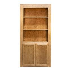 Invisidoor - InvisiDoor Hidden Book Case Door, Unfinished Cherry - Seamlessly add a hidden bookcase door to your home with this unfinished cherry wood model.
