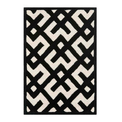 Safavieh - Nadine Hand Tufted Rug, Ivory / Black 2' X 3' - Construction Method: Hand Tufted. Country of Origin: India. Care Instructions: Vacuum Regularly To Prevent Dust And Crumbs From Settling Into The Roots Of The Fibers. Avoid Direct And Continuous Exposure To Sunlight. Use Rug Protectors Under The Legs Of Heavy Furniture To Avoid Flattening Piles. Do Not Pull Loose Ends; Clip Them With Scissors To Remove. Turn Carpet Occasionally To Equalize Wear. Remove Spills Immediately. A timeless quatrefoil motif makes a global design statement in the subtle but sophisticated Desai area rug. These stunning hand-tufted wool rugs are crafted in India to recreate the elegant look of hand-knotted carpets for today's lifestyle interiors.