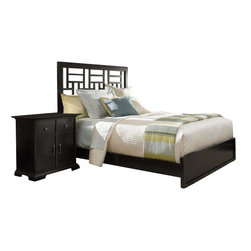 Broyhill - Broyhill Perspectives Lattice Low Bed 5 Piece Bedroom Set in Graphite - Broyhill - Bedroom Sets - 44445PcLatticeLowProBedSet - Broyhill Perspectives Media Chest in Graphite Finish (included quantity: 1) About This Product:�