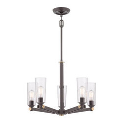 Quoizel - Quoizel UPEV5005 Uptown East Village 1 Tier Chandelier with 5 Lights - Embellish your home d�cor with this alluring 5 light 1 tier chandelier featuring flawless clear glass.Features: