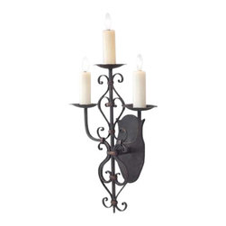 EuroLux Home - New 3-Light Wall Sconce Iron Hand-Crafted - Product Details