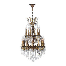 Worldwide Lighting - Worldwide Lighting W83345B19 Versailles 18 Light Candle Style Crystal Chandelier - Features: