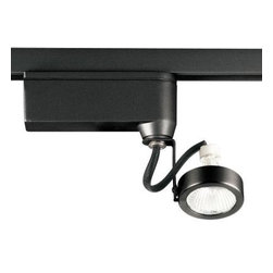 Progress Lighting - Progress Lighting Alpha Trak Collection Black 1-light Track Head P6339-31 - Shop for Lighting & Fans at The Home Depot. The AlphaTrak modular system provides a practical approach to providing illumination in targeted areas. Select from track fixtures that feature 358-degree rotation and 90-degree tilt for precising aiming of halogen light source. Select fixtures and accessories for a complete system. Alpha Trak is not compatible with modular track systems.