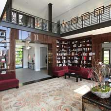 Eclectic Living Room by Abramson Teiger Architects