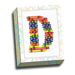 """Picture it on Canvas - Alphabet Crayon Canvas Wall Art, 11""""x14"""", D Crayons - Decorate your home with a piece from our """"ABC Crayon"""" collection."""