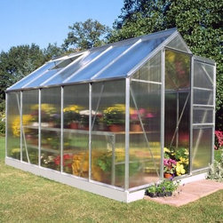 Halls Popular 6 x 10-Foot Greenhouse - Additional Features 4mm thick double-walled panels Includes aluminum or plastic strips to attach to the ends Strips prevent objects getting stuck between the layers UV resistant coating protects your plants 2 roof vents for ample ventilation Door measures 24W x 64H inches Sidewall measures 4 feet Peak height measures 6.5 feet Measures 6W x 10L x 6.5H feet Take some time relaxing around the calming atmosphere that plants and flowers provide with the Halls Popular 6 x 10-foot Greenhouse. With 62-feet of growing space you'll have not trouble finding room for all of your favorite plants and vegetables. The greenhouse is made with 4mm thick double-walled panels that have a polycarbonate glaze to diffuse the light and a protective UV resistant coating to keep your plants from getting burned. The two roof vents help the air to circulate to keep your plants healthy all year long. Lightweight and virtually unbreakable the Halls Popular Greenhouse features plastic or aluminum strips that attach to the ends and prevents dirt bugs and other foreign objects from getting stuck between the panels. Measuring 6W x 10L x 6.5H feet this is a great sized greenhouse for any gardener. Assembly is a weekend project for one or two people. About The Greenhouse Connection LLCThe Greenhouse Connections was established in 1993 to connect gardeners who are looking for a well-made traditional English greenhouse with Halls Garden Products Ltd. of England the world's leading manufacturer of hobby greenhouses. By networking with a variety of people and companies including independent garden centers nurseries mail-order garden and seed catalogs and greenhouse supply companies The Greenhouse Connection does just that. Their offices are located in Grant Pass OR.