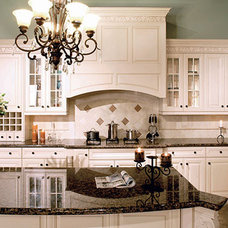 Eclectic Kitchen Cabinetry by Edmonton Kitchen & Bath Cabinet Inc.