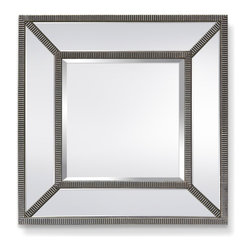 Garber corp - Harmony Mirror, Glass & Silver Stripe Finish - This mirror is part of Garber collection. Garber specializes in home decor items with an elegant look and high quality materials that will complete any project. This mirror will be the focal point in any room, a glass beveled frame with silver liners will coordinate with many wall colors.