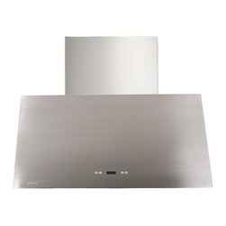 """Cavaliere - Cavaliere-Euro SV218T2-36 36; Wall Mount Range Hood - Mounting Type - Wall Mount. 1200 CFM centrifugal blower. Six-speed with Timer Function. Delayed power auto shut off (programmable 1-15 minutes). 30 hours cleaning reminder. Three dimmable 35w halogen lights (GU-10 type light bulbs). Noise Level - Low speed: 25dba to max speed : 56dba. Industry Highest quality Stainless Steel 22 gauge. Telescopic Chimney Fits 8'4"""" - 9'9"""" ceiling. 8"""" round duct vent. Dual Chamber motor, dual centrifugal, 218W upgraded low noise version. One-year parts warranty from manufacturer"""