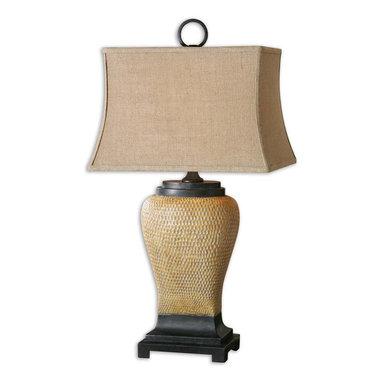 Uttermost - Uttermost 26540 Melitta Burlap Table Lamp - Uttermost 26540 Melitta Burlap Table Lamp