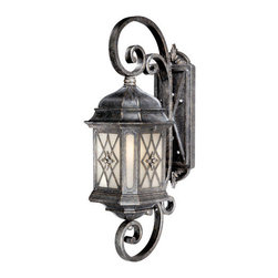 Vaxcel Lighting - Vaxcel Lighting ES-OW51012 Traditional Single Light Energy Star Rated Outdoor Wa - Vaxcel Lighting ES-OW51012 Traditional One Light Energy Star Rated Outdoor Wall Sconce from the Sardinia CollectionFeatures: