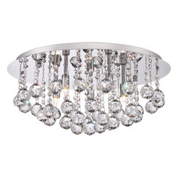 Quoizel - Quoizel QZ-BRX1619C - With sparkling crystals and a sleek Polished Chrome finish, the Bordeaux flush mounts add that perfect elegant touch to any room.  The 40W Xenon Clear bulbs are supplied and enhance the shimmering effect of the cascading drops.