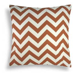 Domusworks - Domusworks Chevron Arizona Orange Decorative Pillow - DM32 - Shop for Pillows from Hayneedle.com! With a rust-colored chevron pattern against a light background the Chevron Arizona Orange Decorative Pillow makes an eye-catching addition to your home decor. This pillow is filled with hypoallergenic poly and has a removable insert accessible through a zippered bottom opening.Dimensions:Lumbar: 20L x 18W inchesSquare: 20L x 20W inchesAbout Domusworks:Delivering handmade eco-friendly products proudly crafted in the USA Domusworks is sure to have something for every home. Using designer fabric made from organic cotton Domusworks uses a team of freelancers and partners around the New York City area to make each piece by hand. This ensures that you'll receive only the best-quality product with the peace of mind tha comes from knowing your decor wasn't mass-produced overseas.