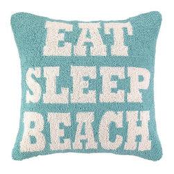 PHI - PHI Eat Sleep Beach Hook Pillow - Eat Sleep Beach Hook Pillow by PHI.