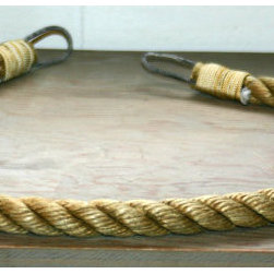 Curtain Tie backs Light Brown Rope Nautical By AlaskaRugCompany - These curtain tie-backs would pop against some navy or red linen curtains.