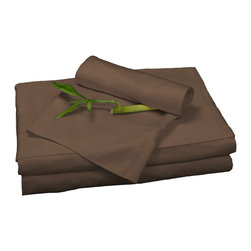 BedVoyage - Sheet Set, Mocha, Twin - BedVoyage Bamboo Bed Sheets are made from 100% bamboo viscose, are subtly cool and extremely breathable, with a feel softer to the touch than a 1,000 thread-count Pima cotton. The linens will not pill nor fade. Bamboo is an easy care and durable fiber, and those with sensitive skin will benefit from the round bamboo fibers which are extremely smooth against the skin. Sheet sets include a deep-pocket fitted sheet, a flat sheet, and two pillowcases (1 for Twin size).