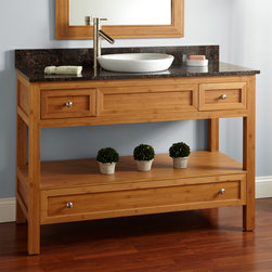 "48"" Miles Bamboo Console Vanity for Semi-Recessed Sink - Add casual sophistication to a master bath with the spacious 48"" Miles Bamboo Console Vanity."