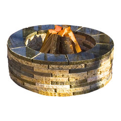 Realstone Recycling - Granite Fire Pit Kit - If you have a DIY streak, this fire pit will be right up your alley. It takes less than 10 minutes to assemble and measures up to 37 inches in diameter.  Open it at 5pm and have a warm fire blazing by 5:30.