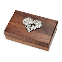 Inova Team -Rustic Wooden Handmade Jeverly Heart box - Just like the loved ones in your life, your most treasured trinkets were collected over a series of intersecting events; a bracelet picked up on vacation gave way to a ring received for your anniversary.