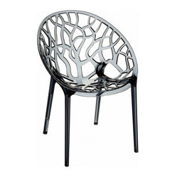 Crystal Polycarbonate Modern Dining Chair (set Of 2)
