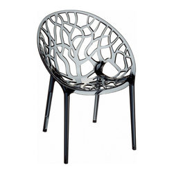 Siesta - Crystal Polycarbonate Modern Dining Chair (set Of 2) - *Made from unbreakable polycarbonate.