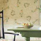 Florentine Scrolls Stencil - Florentine Scrolls Stencil from Royal Design Studio for walls, furniture, ceiling, floor, or fabric.