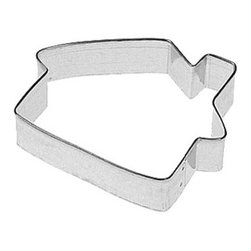 RM - Cabin 4 In.  B1108 - Cabin cookie cutter, made of sturdy tin, Size 4 in., Depth 7/8 in., Color silver