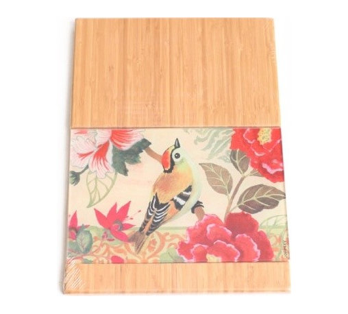 Morning Sparrow Wooden Cutting Board - I'm always in the kitchen, and this is a unique way of bringing floral designs into that area. I don't think I've ever seen a cutting board quite like it before.