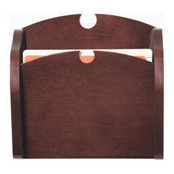 Lesro - One Pocket Chart Holder (Cherry) - Finish: Cherry. Solid hardwood uprights with antique brass plated hooks. Furniture quality construction. Inside Dimension: 13 in. W x 0.75 in. D x 13 in. H. Overall Dimensions: 15 in. W x 3.75 in. D x 15 in. H