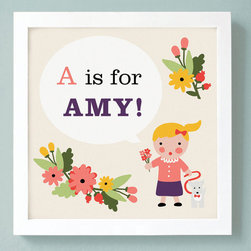 Custom Kids Art Print Personalized By Unless Someone Like You - I love the ABC book/name art thing!