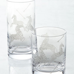 Lenox Scalamandre Zebras Drinkware, Sets of 2 - Changing up the color combo is as easy as mixing up a new cocktail with the Scalamandre zebra glasses. Tasty and custom!