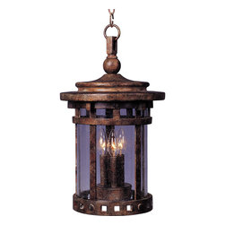 Maxim Lighting - Maxim Lighting 40039CDSE Santa Barbara VX 3-Light Outdoor Hanging Lantern - Maxim Lighting 40039CDSE Santa Barbara VX 3-Light Outdoor Hanging Lantern