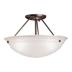 Kichler Three-Light Semi-Flush Ceiling Light -